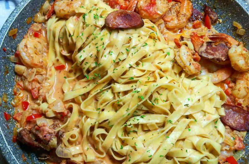 Cajun Shrimp and Andouille Pasta