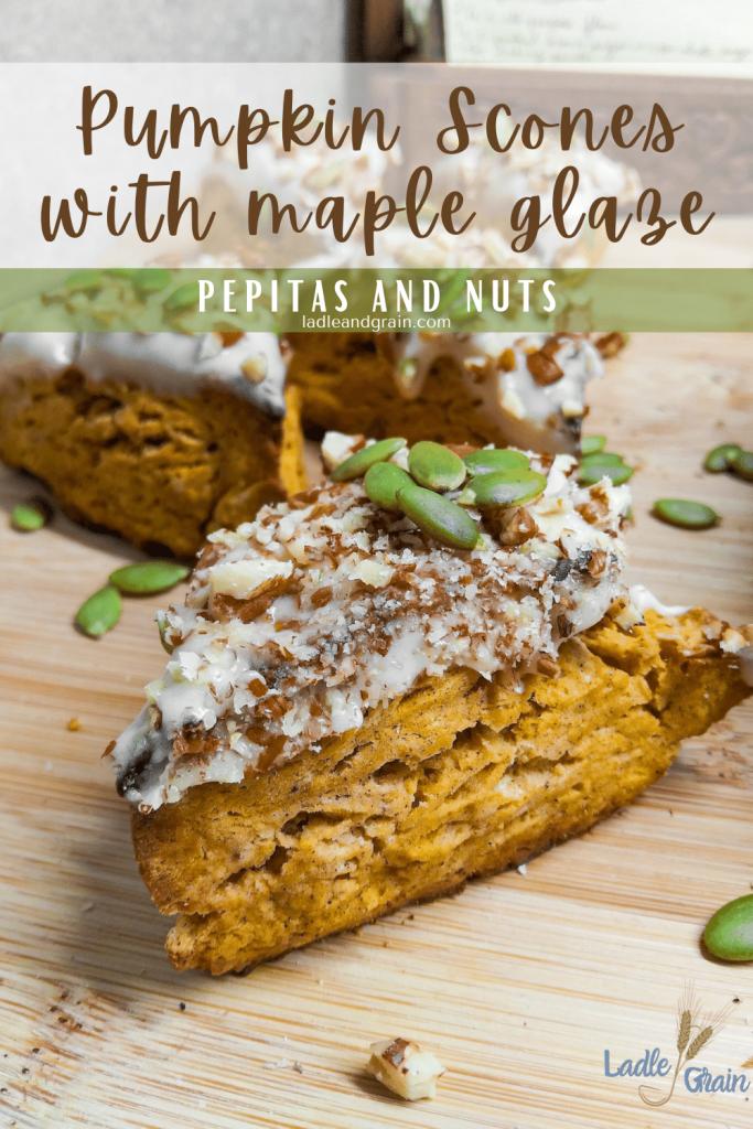 pumpkin scones with maple glaze pin.