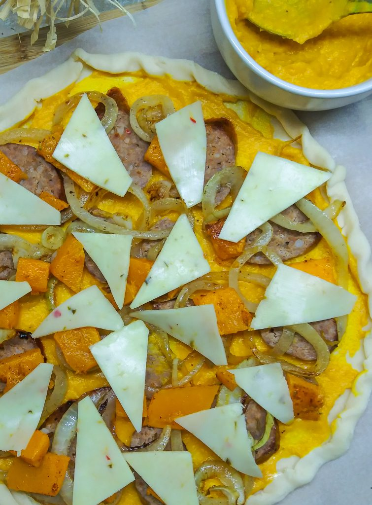 uncooked savory galette.