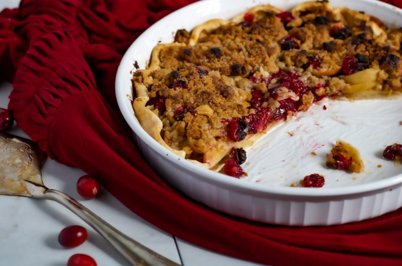 Cranberry Apple Crumb Tart