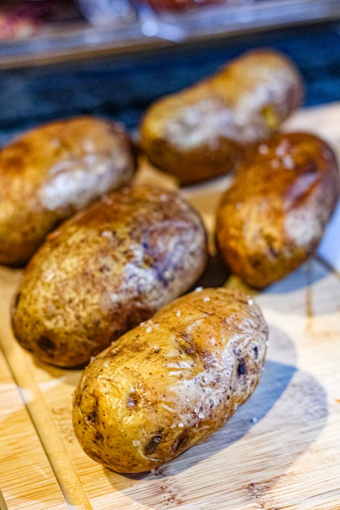 air-fryer baked potatoes.